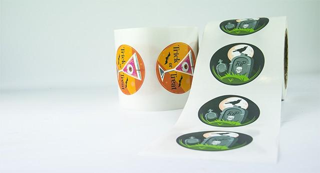 Etiquetas en papel mate premium